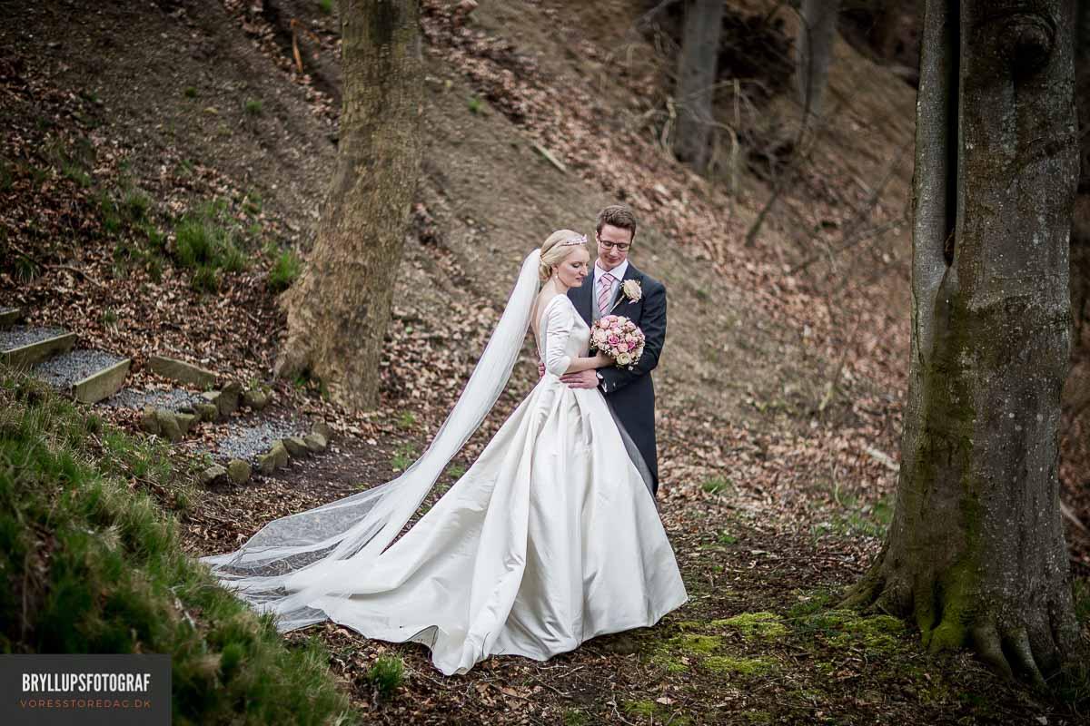 bryllupsfoto i skov Fredericia