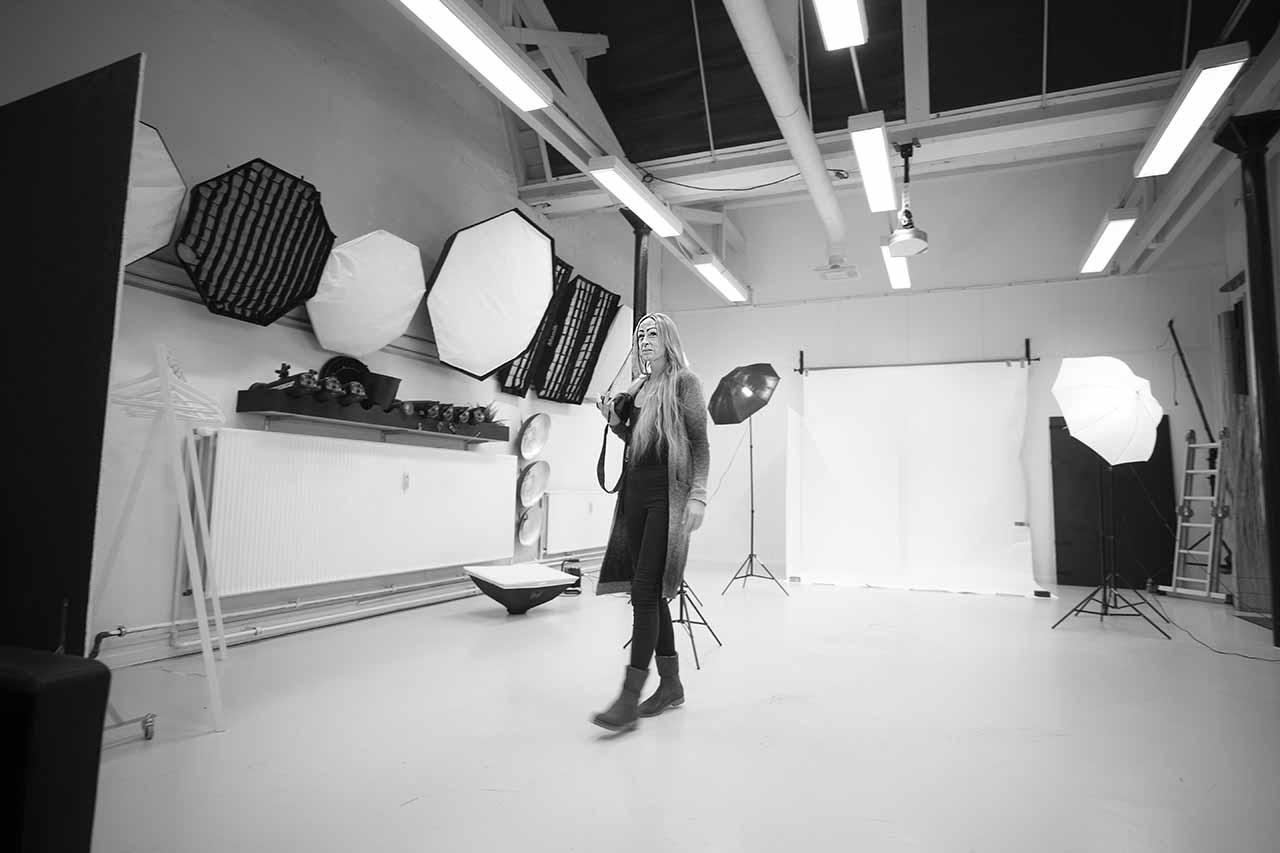 fotograf i fotostudio i Fredericia