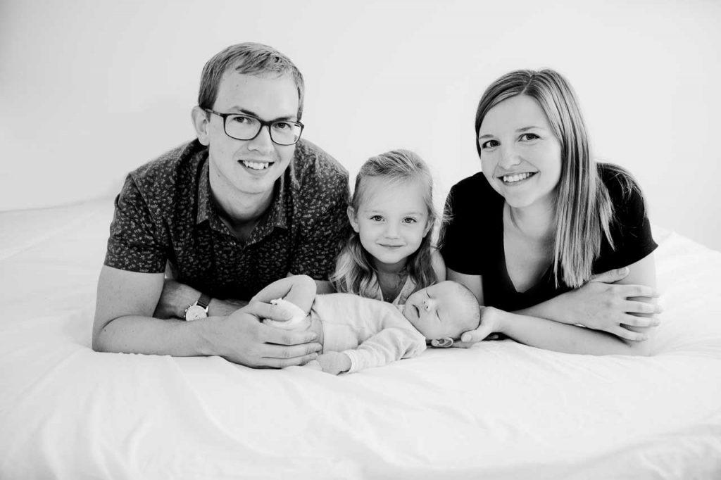 gruppefoto af familie